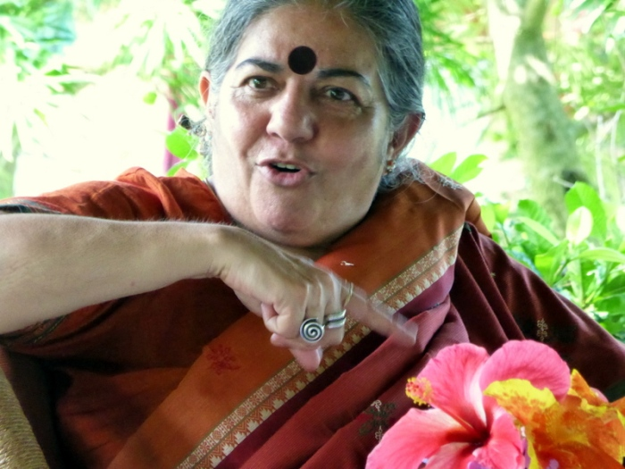 Dr. Vandana Shiva speaking on seed freedom